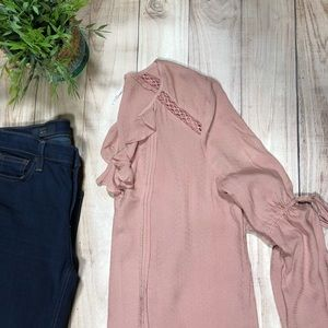 Free People Rose Blouse NWT